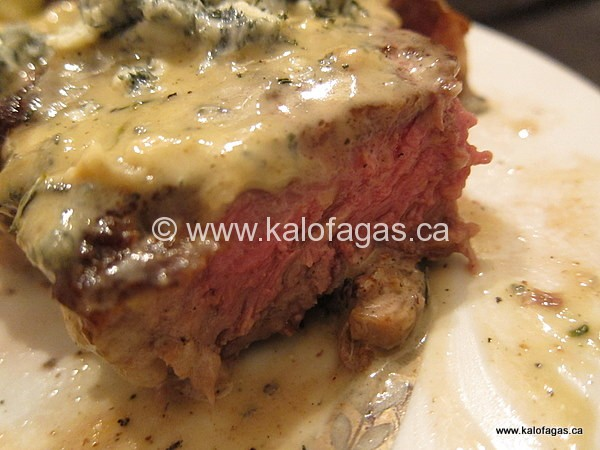 Ribeye Steaks With Blue Cheese Sauce
