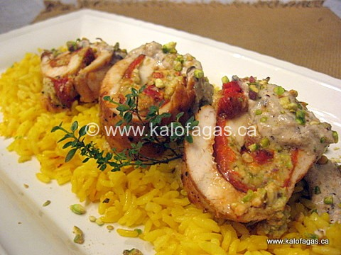 Chicken Breast Stuffed With Roasted Red Peppers, Feta and Pistachios ...