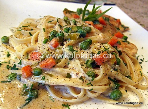 Tarragon Chicken With Peas and Carrots