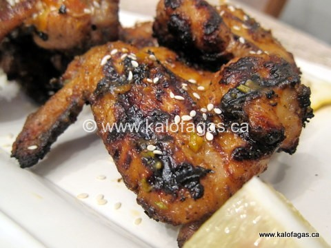 Chicken Wings With a Mustard Barbecue Sauce