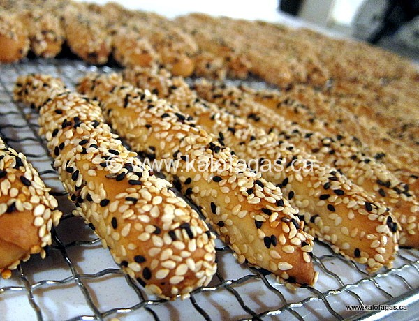 Kritsinia (Sesame-Covered Bread Sticks)