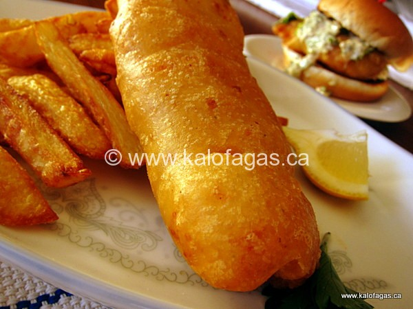 best beer battered fish ever kalofagas greek food