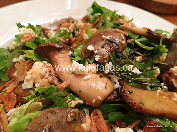 Warm Mushroom Salad With Feta & Crispy Onions - KALOFAGAS | GREEK FOOD ...