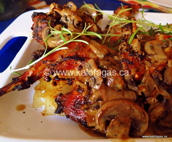Roast Pheasant With Mushroom Cream Sauce - Kalofagas - Greek Food ...
