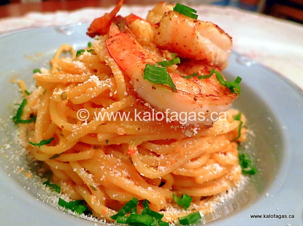 Spaghetti Tossed in Shrimp Butter