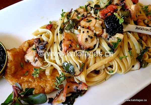 Summer Octopus With Linguine