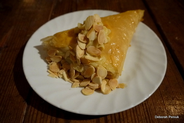 Dessert – Trigona Panoramatos with toasted almonds (phyllo triangles ...