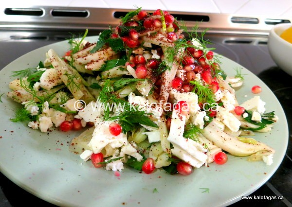 Ottolenghi's Salad With Fennel, Pomegranate and Sumac - KALOFAGAS ...