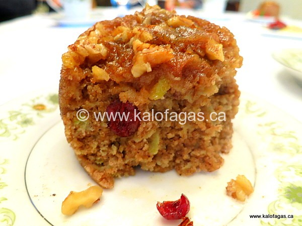 Sticky Apple & Walnut Pudding in a Coffee Mug