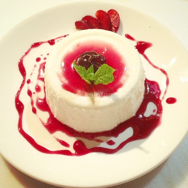 Mastic Greek Yogurt Panna Cotta With A Sour Cherry Sauce Recipes ...