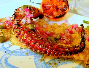 Grilled Octopus With Santorini Fava